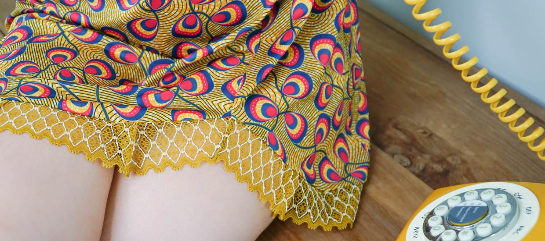 Aklomissa lingerie colorée ethnique dynamique
