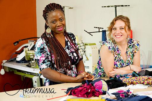 L'équipe d'Aklomissa Larissa et Céline